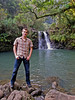 Martin in front of one of the dozens of waterfalls along the road to Hana