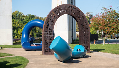 Hart Crane Memorial at the Cuyahoga River in Cleveland, Ohio