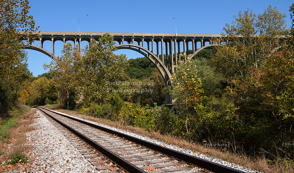 Brookpark Viaduct in Cuyahoga Valley National Park, Ohio, USA