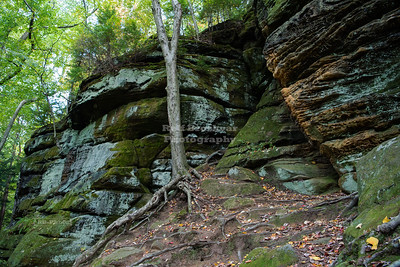 The ledges in the Boston Heights area of Cuyahoga National Park, Ohio, USA