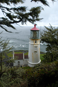 © Joseph Dougherty. All rights reserved.  Heceta Head Lighthouse.  Southern Oregon coast.