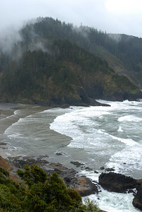 © Joseph Dougherty. All rights reserved.  Southern Oregon coast in the mist.