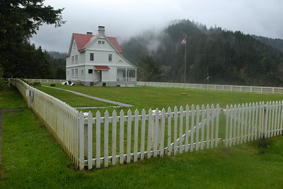 © Joseph Dougherty. All rights reserved.  Heceta Head Keeper's Residence.  Southern Oregon coast.