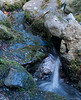 A small stream in the Japanese Garden.  Not an HDR image, just a slow shutter speed (1/10 sec).