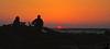 watching the sunset in ruby beach, WA