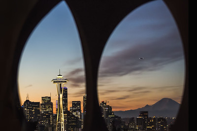 Space Needle Sunrise in Seattle, WA