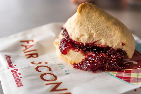 Fair Scone with Jam at Puyallup Fair
