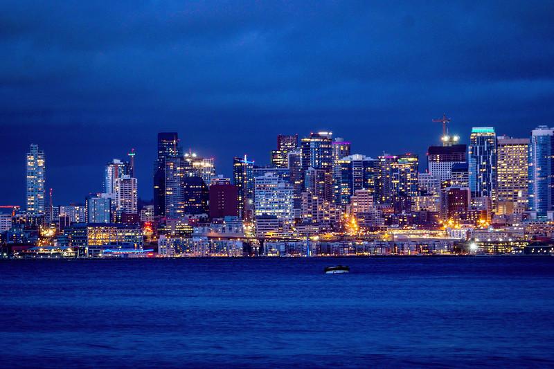 Downtown Seattle from Alki - West Seattle