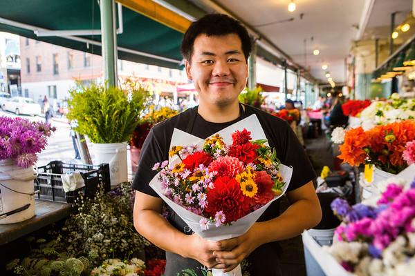 Pike Place Market in Downtown Seattle, Washington
