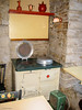 """The kitchen had all """"mod cons"""" for 1935, including this Aga cooker from Sweden."""