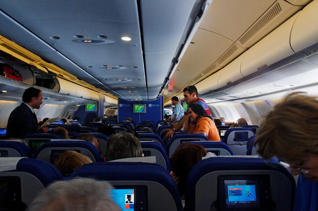 2010-07-01 - Dentro do avião que fazia o voo de Amesterdão-Holanda até Atalnta nos USA.