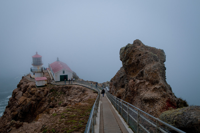 The stairs leading down to Point Reyes Lighthouse