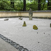 Japanese rock garden in the botanical garden