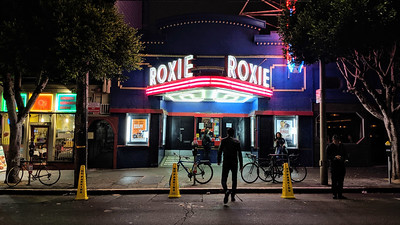 Roxie at night