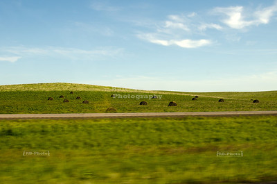 The great nothingness. Hay bales can be a highlight on the long ride through eastern South Dakota on I-90. Shot while driving - please don't try that. Ever!