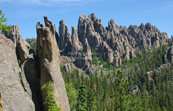 Bizarre rock formations near Needles Highway Scenic Drive (SD Highway 87) in Custer State Park, South Dakota, USA