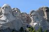 Full view of the four Presidents at Mount Rushmore National Memorial, South Dakota, USA