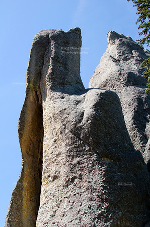 Top of Needle's Eye, a famous rock formation on Needles Highway Scenic Drive (SD Highway 87) in Custer State Park, South Dakota, USA
