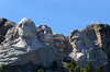 Full view of the four Presidents at Mount Rushmore National Memorial, South Dakota, USA