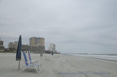 Wind cold beach