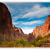 Cliffs of Zion Canyon near Big Bend in Zion National Park, Utah, USA Photo-id Utah-128