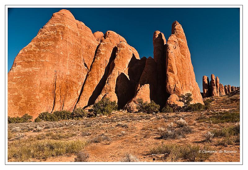 Sandstone Walls Arches National Park Utah USA