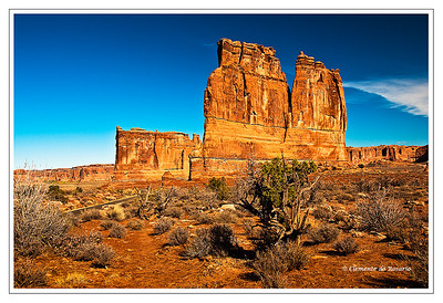 Courthouse Towers Arches National Park, Utah USA