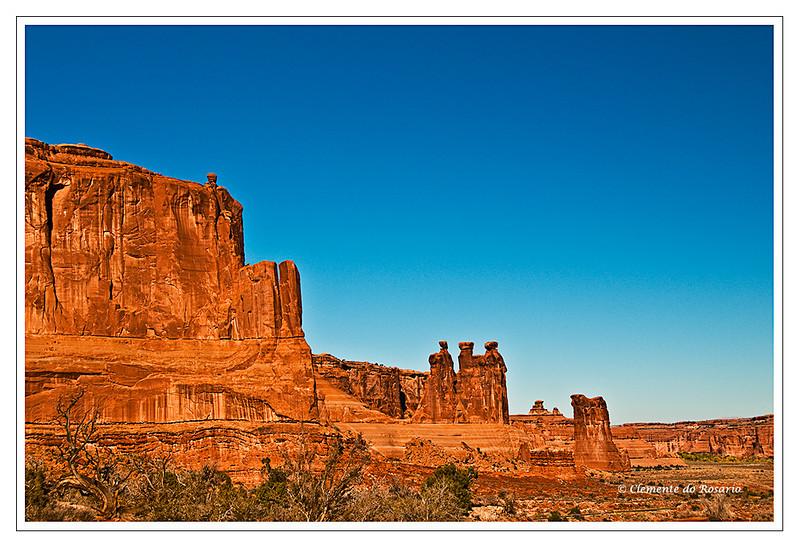 Three Gossips Arches National Park Southwest Utah USA