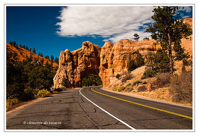 Red Canyon along scenic highway 12 in Southwest Utah, USA