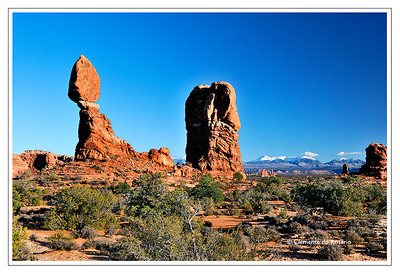 Balanced Rock, Arches National Park, Southwest Utah,USA