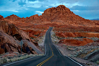 Driving through Valley of Fire, Nevada