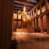 Inside the Parthenon, there is a gigantic statue of Athena, resplendent in gold leaf.
