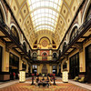 The beautiful old Union Station in Nashville was converted to a Wyndham grand hotel.
