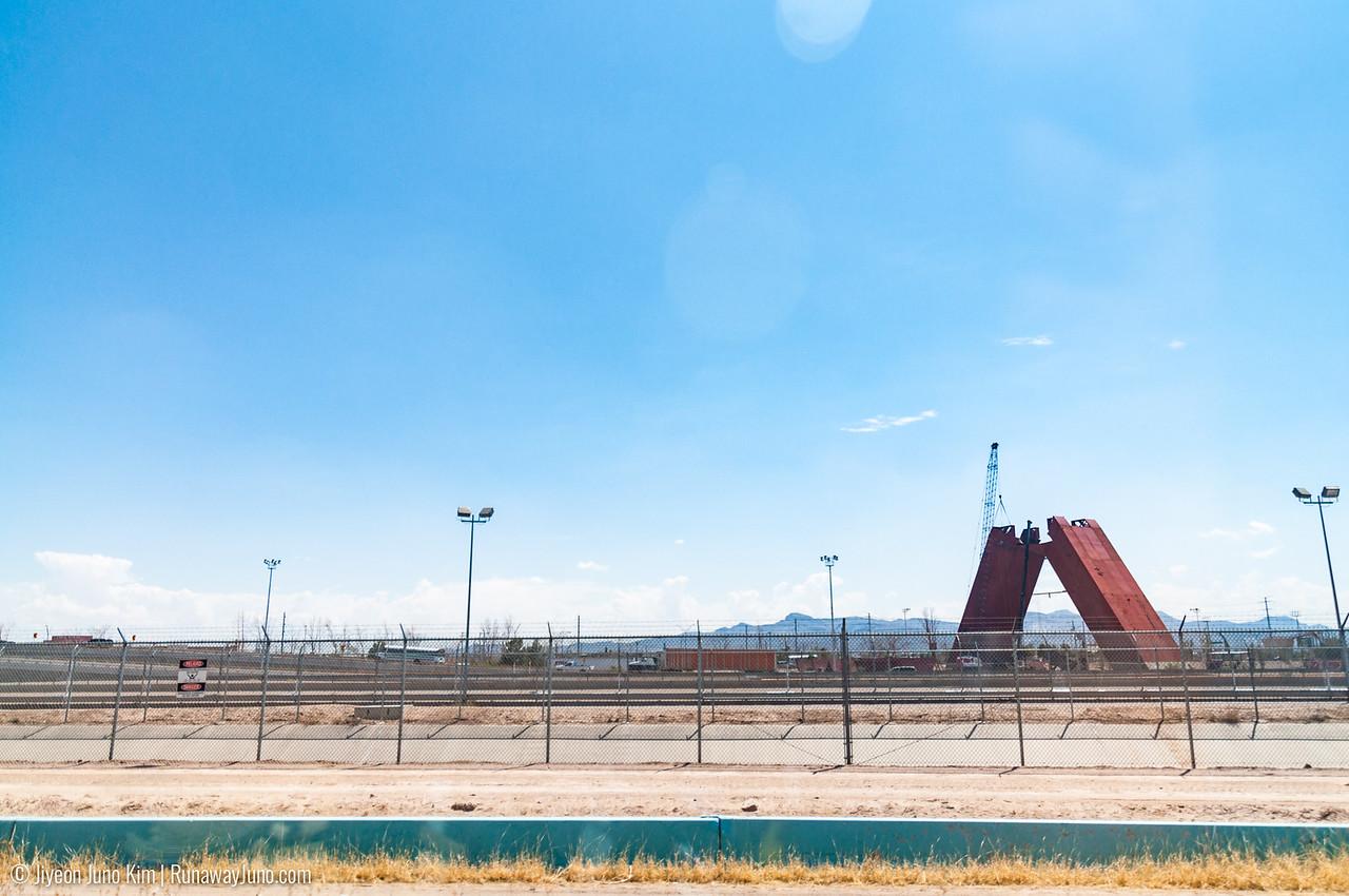 Border between Mexico and the US in El Paso