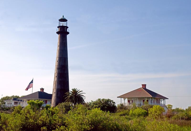 lighthouse on Bolivar peninsula