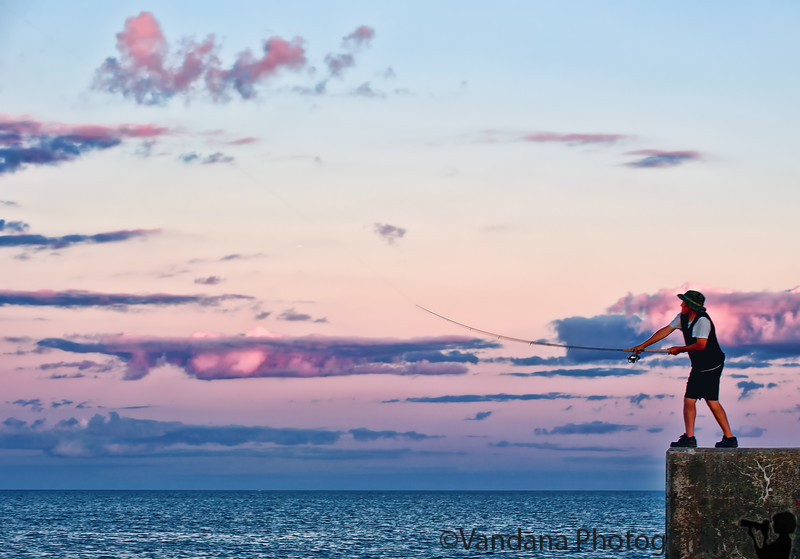 August 16, 2010 - a fisherman at sunset