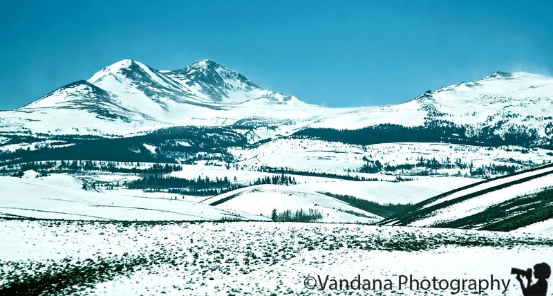The High Sierra mountains, California