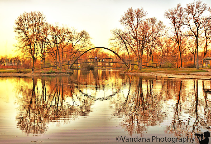 Reflections at a local park, Madison, Wisconsin