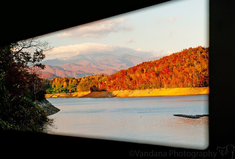 November 4, 2011. The mountains and rivers of Western NC, zipping past the windows of a steel locomototive.
