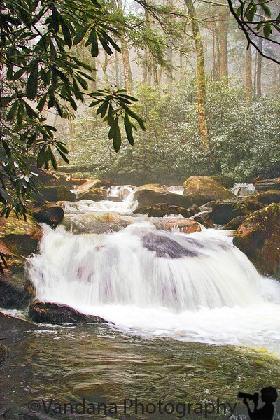 Waterfalls from Great Smoky Mountain National Park, Tennessee