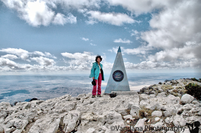 climbed the guadalupe peak, at 8749ft, the highest peak in TX, on Feb 20, 2005
