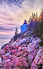 Bass Harbor Lighthouse at sunset, Maine. June 2003