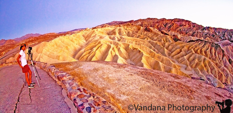 Photographing at Zabriskie Point, Death Valley National Park
