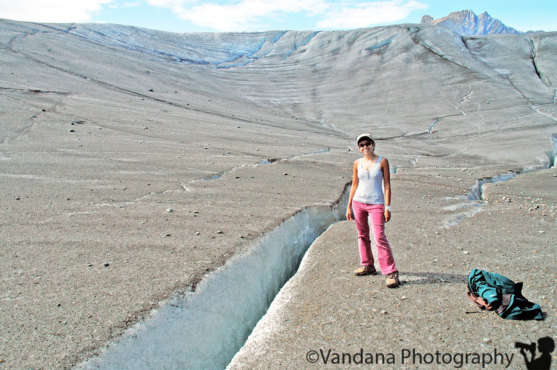 walking on ice, the Root Glacier, Kennicott, Alaska