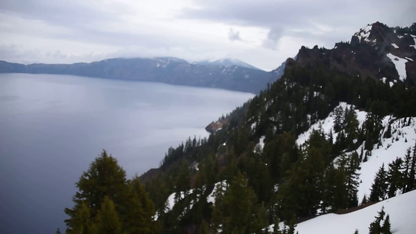 Video: Aerial view over Crater Lake, Oregon