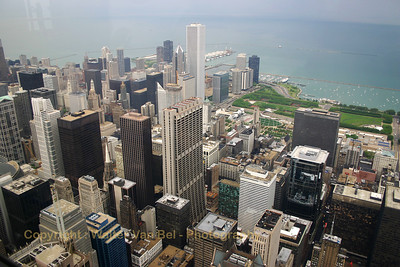 Chicago, as seen from the Sears Tower (103rd floor).
