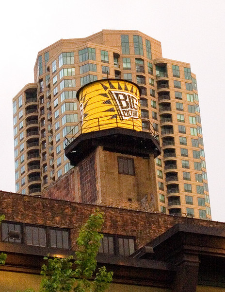 One of the many water towers in Chicago; used for fire protection in the not so olden days.