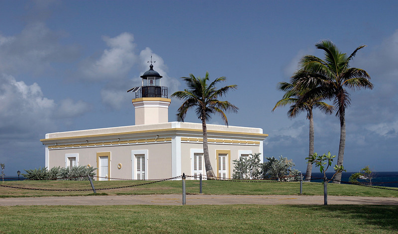 Lighthouse in Vieques Island, Puerto Rico.