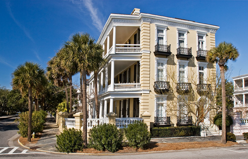 Corner House at Battery Park in Charleston, South Carolina.