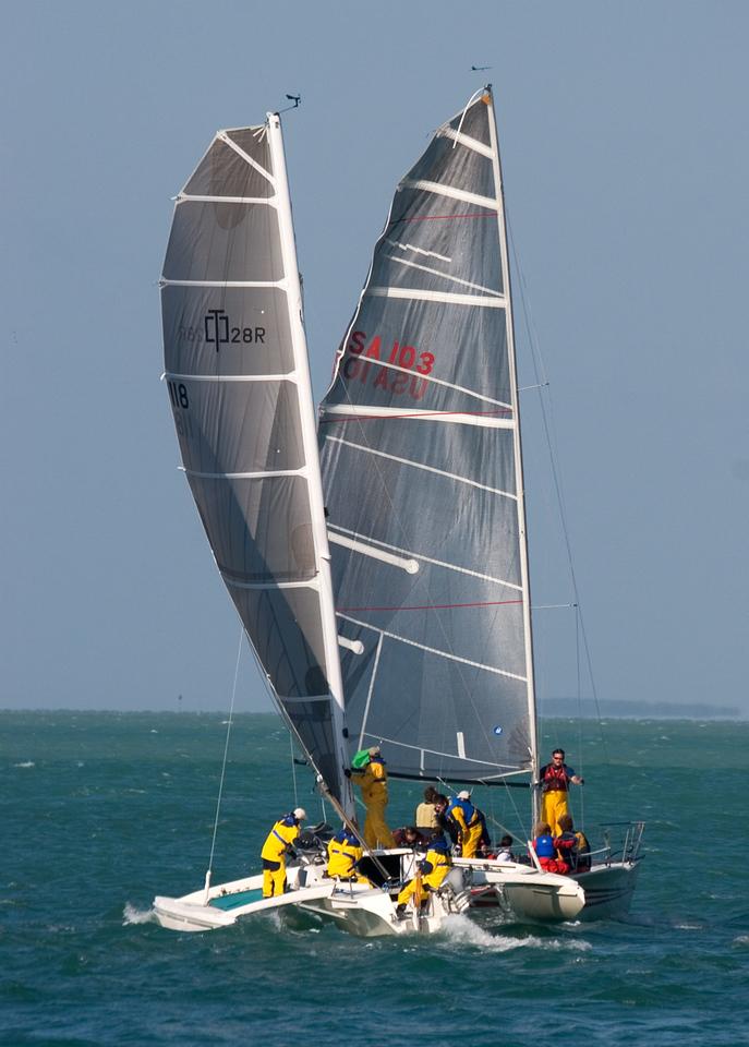 Sailing off Key West.